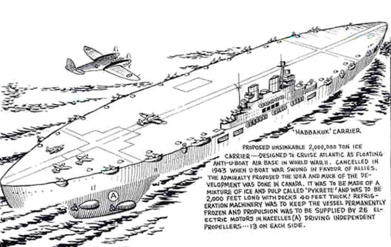 Рисунок ледяного авианосца