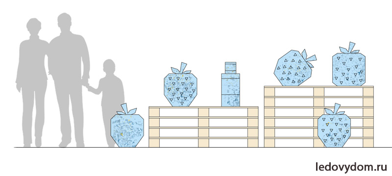Эскиз ледяных ягод земляники