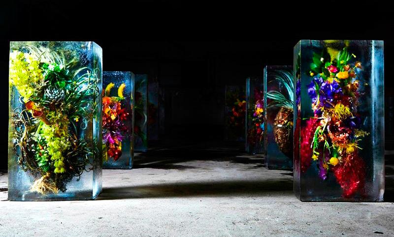 Ледяная инсталляция Макото Азума