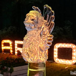Ледяная скульптура Венецианский лев