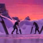 Заготовка льда в мультфильме Холодное Сердце