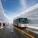 Снежные стены в Японии