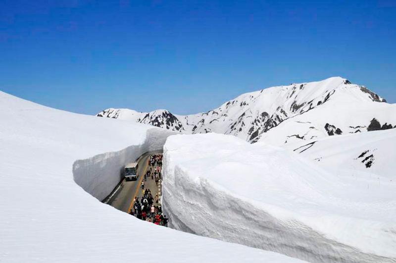 Дорога в снежной толще