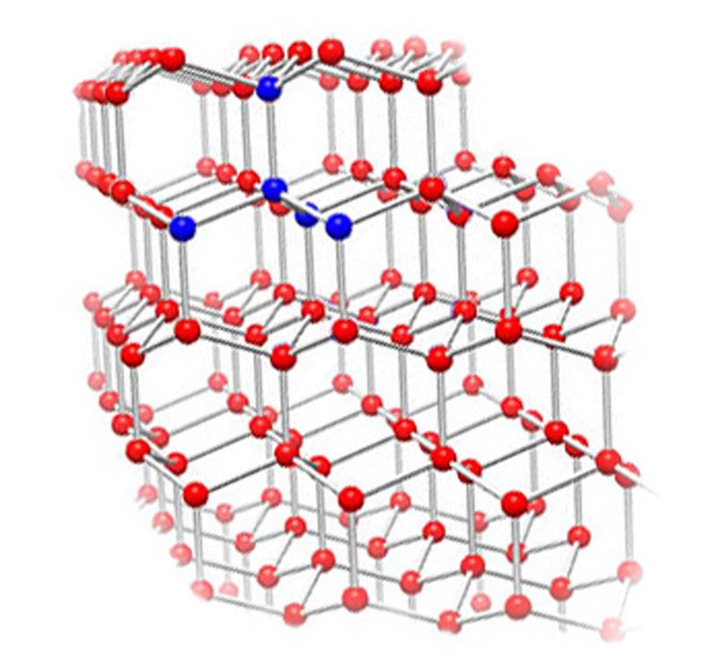 Илл.8 – Кристаллическая решетка обыкновенного (гексагонального) льда.