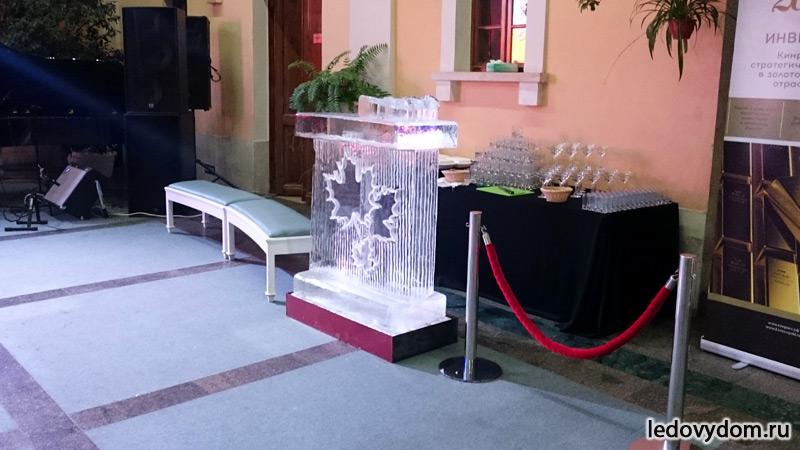Ледяная стойка для подачи напитков