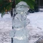 Ледяная скульптура Обезьяна