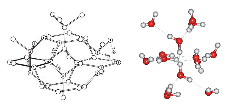 Илл. 16. Структура льда IV типа.